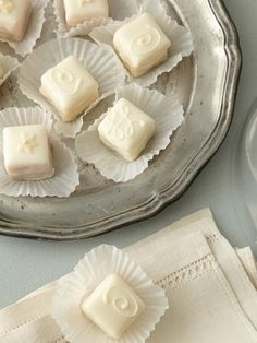 Classic White Petit Fours by Dragonfly Cakes on Gilt Home
