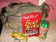 """GHB (Get Home Bag) necessities. This is not a """"bug out bag"""". This is for when you're stuck on the side of the road, car dead and need some supplies to make sure you can get home. Keep it simple!"""