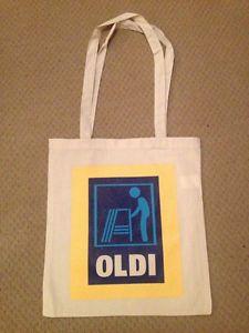 Completely original Aldi Oldi novelty tote bag 100% eco-cotton. Very cool!  UK