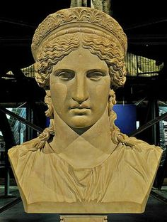 Bust of Hera Augusta - marble, 1st century AD., Roman period... ... looks like the USA lady liberty