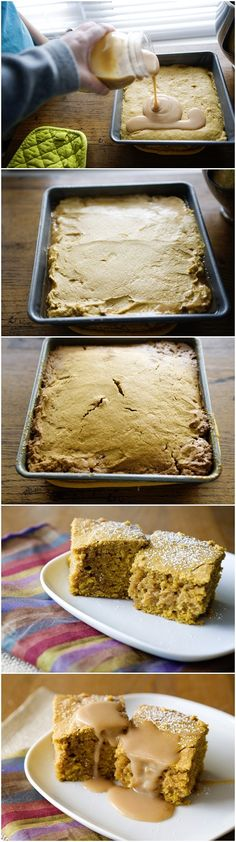 Pumpkin Salted Caramel Blondies Recipe