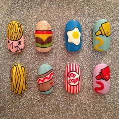 fast food/tatty devine nails by nancy mc