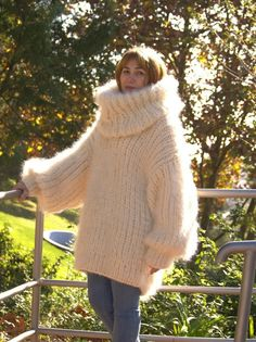 Marled Sweater, Mohair Sweater, Sweater Cardigan, Thick Sweaters, Wool Sweaters, Mohair Yarn, Blouse Dress, Turtle Neck, Cardigans