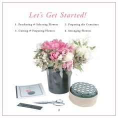 Do it yourself, flower arranging kit, Flowers by Number #DIYflowerarrangingkit
