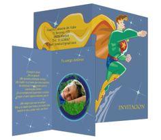 Superhéroe con foto - #invitación de #cumpleaños para niños