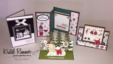 Hi and welcome to my It's Christmas And I Went All Out blog post! As it was coming up to Christmas I had a few orders placed that I wanted to share with you. I made a collection of four (4) very different cards and a pair of festive earrings. Christmas Cards 2017, Stampin Up, Festive, Merry, Scrapbooking, Seasons, Frame, Earrings, Blog