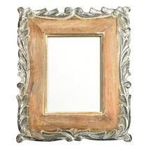 Silver Hand Carved Wooden Frame