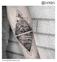 ideas for tattoo geometric mountain triangles is part of Triangle tattoos - Hand Tattoos, Dreieckiges Tattoos, Ocean Tattoos, Forearm Tattoos, Body Art Tattoos, Small Tattoos, Sleeve Tattoos, Tatoos, Couple Tattoos