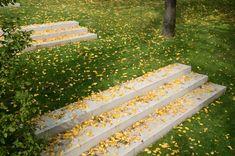 Gesellschaft von Landschaftsarchitekten mbH-Residency of the German Embassador in Slovakia Landscape Pavers, Landscaping A Slope, Landscape Steps, Landscape Architecture, Landscape Design, Garden Design, Outdoor Steps, Home Decoracion, Exterior Stairs