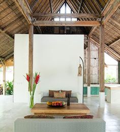 I love everything about this home! Its a traditional Limasen which have been tastefully redesigned fo. Bali Architecture, House Design, Space Interiors, Bali House, Home, Small House Plan, Living Room Lounge, Traditional House, Bali Style Home