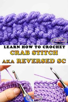 Learn how to easily crochet the Crab Stitch aka Reversed Single Crochet with this simple to understand Photo and Video Tutorial #free #crochet #border #pattern #crabstitch #reversed #sc #singlecrochet #reversedsinglecrochet #crochetpattern #freecrochetpatterns #hat #scarf #cardigan #blanket #crochetblanket #crochethat #crochetcardigan #tutorial #stitch #video #secret #crochettip #tip #trick #learn #howto Crochet Blanket Border, Crochet Borders, Crochet Stitches Patterns, Crochet Designs, Learn To Crochet, Easy Crochet, Free Crochet, Irish Crochet, Crochet Baby