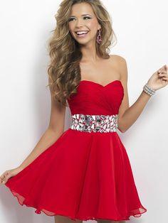 A-line Sweetheart Chiffon Short/Mini Rhinestone Homecoming Dresses at pickedlooks.com