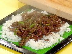 teriyaki steak crockpot recipe.  Abby loves beef teriyaki so I should try this