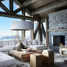 Cozy Living Room Decor for Small, Modern, Boho or Rustic Living Rooms Cabin Interior Design, Chalet Interior, Chalet Design, Vintage Interior Design, House Design, Chalet Style, Interior Decorating, Decorating Ideas, Chalet Chic