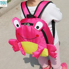 Find More Plush Backpacks Information about New Cartoon Frog Design Backpack for 3 6 Year Kids Boys Girls Student Bags Schoolbag Christmas Gift Drop Shipping,High Quality design gun,China backpacking socks Suppliers, Cheap backpack seat from Toys in the Kingdom on Aliexpress.com