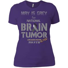 brain tumor awareness 2 Next Level Ladies' Boyfriend Tee