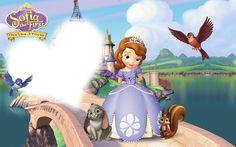 Princess Sofia Invitations, Princess Sofia Birthday, Sofia The First Birthday Party, First Birthday Photos, Happy Birthday Frame, Birthday Frames, Birthday Tarpaulin Design, Disney Png, Frozen Background