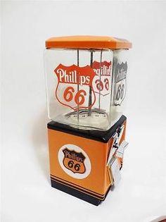 """vintage 1950""""s Northwestern PHILLIPS 66 gas gumball machine"""
