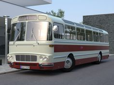 Karosa 1965 Model in Bus Volkswagen Routan, Volkswagen Transporter, Converted Horse Trailer, Bus City, Vw Crafter, Diesel Cars, Bus Coach, Truck Wheels, Horse Trailers