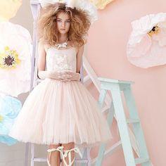 Girlsdress by Tutu du Monde ❤ #tutudumonde #tuilledress #flowergirldress…