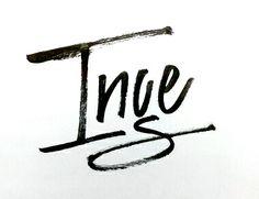 Inge #calligraphy #handlettering #lettering #inge #brush
