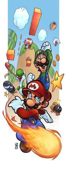 Mario y Luigi. ¡Genial dibujo! / Mario and Luigi. Perfect picture!