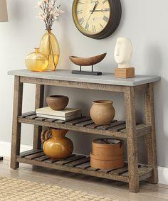 Santa Fe Brown & Gray Console Table #zulily #zulilyfinds