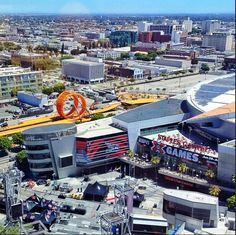 Photo of the upcoming Hot Wheels Double Loop Dare happening this Saturday at the X Games.  Photo taken by Green Driver Greg Tracy from Ken Block's hotel room.