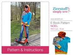 NOELs unisex hoody pattern / sweatshirt, sizes 110-152 / 5-12 yrs. / INSTANT DOWNLOAD by MyZierstoff on Etsy