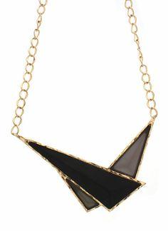 triangle necklace set