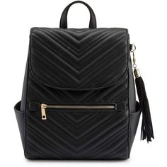 f92c2b258e4 Miss Selfridge Black Quilted Backpack ( 57) ❤ liked on Polyvore featuring  bags