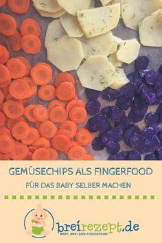 Gemüsechips als Snack für das Baby selber machen