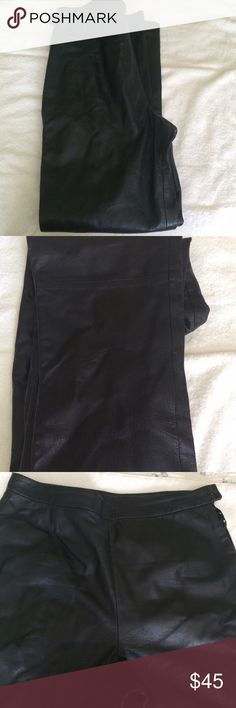 Leather pants. Black leather pants in excellent condition. Clio Leather Pants