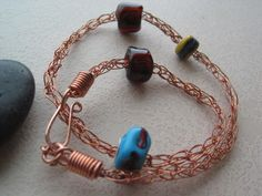 Viking chain bracelet with lampwork beads - It's a Wrap