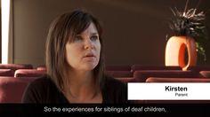 Experiences of siblings of deaf children