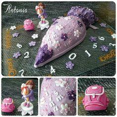 #schultüte #torte #schule #ranzen #einschulung #geschenk #lila #mädchen #торт #подарок #тотртназаказ #школа #дети #