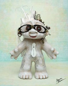 Altered steam punk troll...I wish I still had my troll collection!
