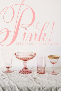 Maybe I should start collecting pink depression glassware