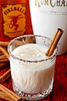 This Cinnamon Crunch Cocktail is one of my favorite drinks to make with Rumchata. It's a sweet and spicy cocktail all in one!