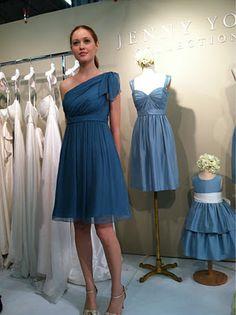 Turkish Blue Jenny Yoo bridesmaid dress
