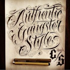 authentic gangster style x daniel zaragoza #graphicdesign #gangsta #typography…