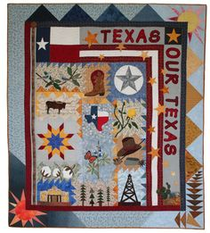 Texas Our Texas Quilt -- Block of the Month