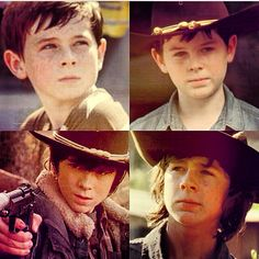 Carl from the walking dead seasons 1-4