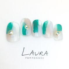 3月の定額デザイン【INCEPTION COLORS】|ネイルデザインを探すならネイル数No.1のネイルブック Luv Nails, Happy Nails, Manicure Y Pedicure, Pretty Nail Art, Crystal Nails, Elegant Nails, Toe Nail Art, Accent Nails, Cute Nail Designs