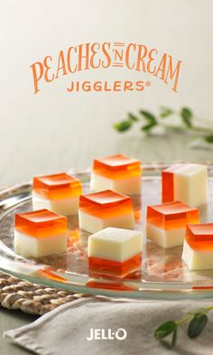 This classic dessert duo is jiggling to be your newest favorite treat. Peaches 'n Cream JIGGLERS are easy to make too. Add JELL-O Peach Flavor Gelatin and sweetened condensed milk to your shopping list, and follow the link for this simple recipe.