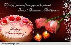 Today, Tomorrow And Forever! Many Many Happy Returns of the Great Day.Wish you both Amit & Ridhima a very Happy Marriage Anniversary.May His Almighty shower upon you flowers of Happiness & Joy in your life.---PAPA,MOM and PALLAVI<br> Marriage Anniversary Quotes, Anniversary Wishes For Couple, Happy Wedding Anniversary Wishes, Anniversary Greetings, Anniversary Cards, 2nd Anniversary, Wedding Wishes, Birthday Greetings, Birthday Wishes