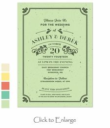 Vintage Plantable Rustic Wedding Invitations on 100% Recycled Wildflower Seeded Paper. #Eco-Friendly #Weddings Daisy-Days.com