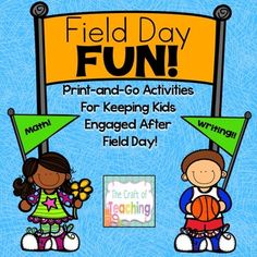 After Field Day Fun: Printables To Keep Kids Engaged Teacher Blogs, Teacher Resources, Field Day Activities, Upper Elementary Resources, Classroom Routines, End Of School Year, Math For Kids, Writing Practice, Math Skills