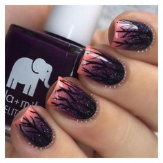 Halloween Nails So Cool They'll Give You Chills ❤ liked on Polyvore featuring beauty products, nail care and nails