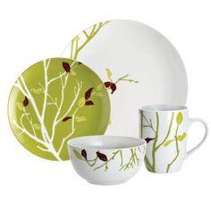 Dinnerware Set 16Pc Microwave & Dishwasher safe Durable Plates&Bowls RachaelRay  #RachaelRay